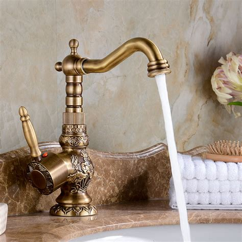 Antique Bronze Faucets Bathroom by Attica Antique Bronze Bathroom Sink Faucet With Cold