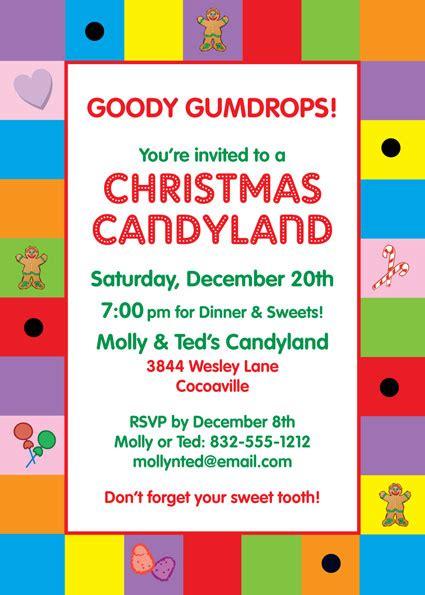 Candyland Flyer Template candyland invitation