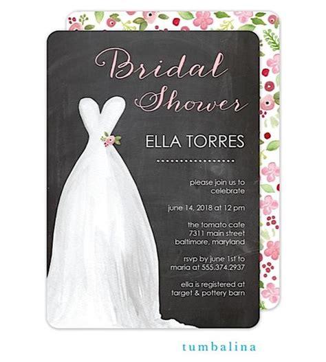 bridal shower invitation dress code tumbalina chalkboard watercolor dress bridal shower invitation 20 all things wedding on