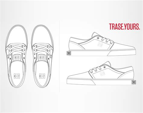 design a shoe template design the trase shoe for dc shoes scene360