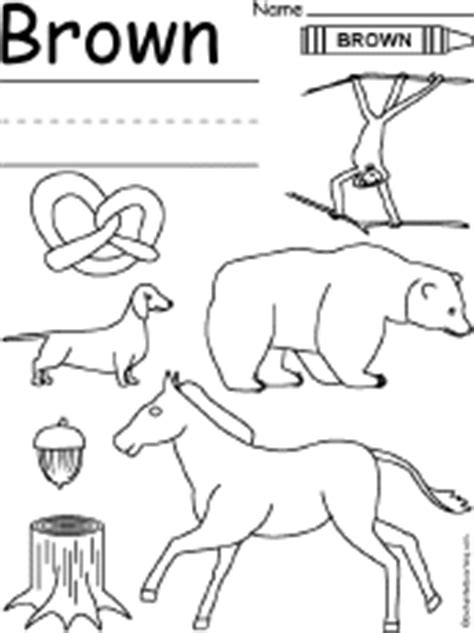 Brown Worksheet Enchantedlearning Com Brown Coloring Pages To Print