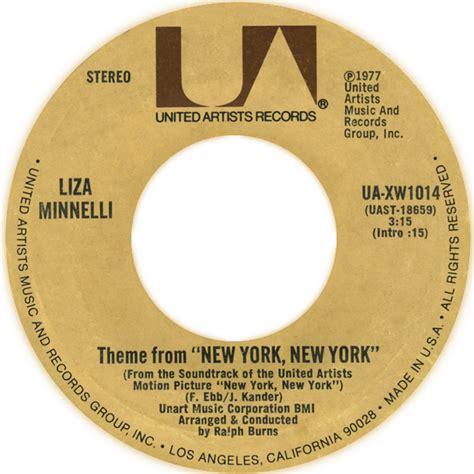 testo new york new york frank sinatra theme from new york new york