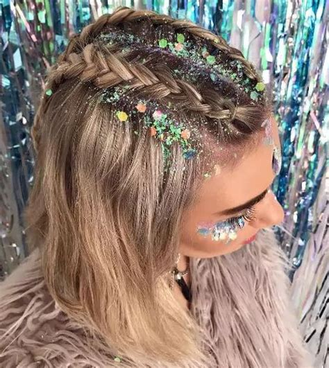 hairstyles for rave party best 25 glitter hair ideas on pinterest creamfields