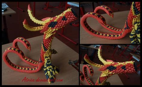3d origami chinese dragon tutorial 3d origami dragon by atriee on deviantart