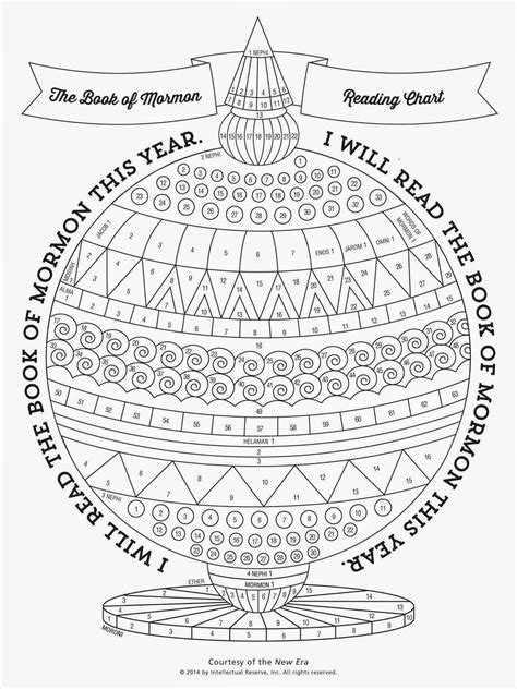 libro new guide to coloring didi relief society the book of mormon reading chart by new era