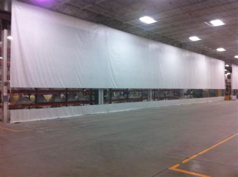 goff curtain wall industrial curtains vinyl partitioning systems pvc
