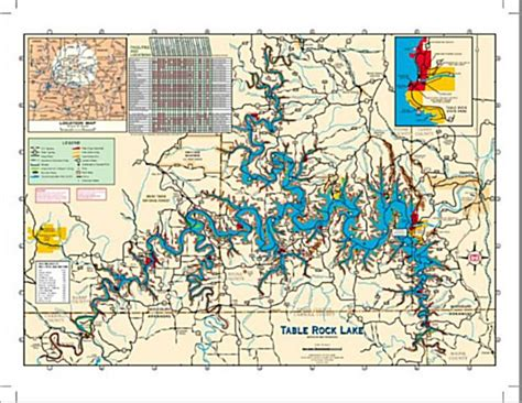 table rock lake map table rock lake map nautical swag maps tables and search