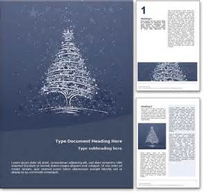 royalty free christmas microsoft word template in blue