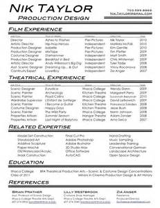 Theatre Sle Resume by Theatre Resume