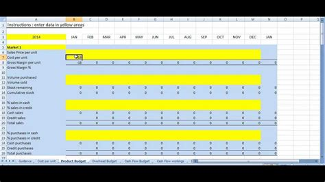 business plan excel template youtube