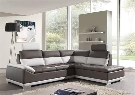 canape cuir blanc et gris photos canap 233 d angle cuir gris et blanc