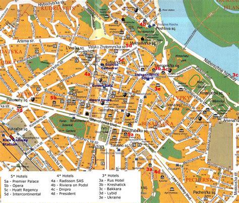 map city centre kiev city centre map