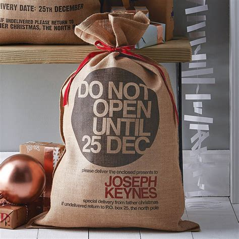 personalised bryanston christmas sack by harrow green