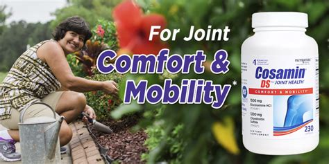 comfort mobility cosamin ds double strength joint care 230 capsules
