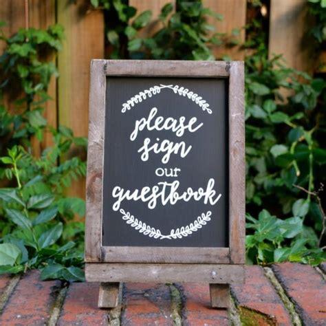 Handmade Chalkboards - sign our guestbook wedding sign handmade