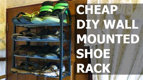 diy wall mounted shoe rack diy wall mounted shoe rack