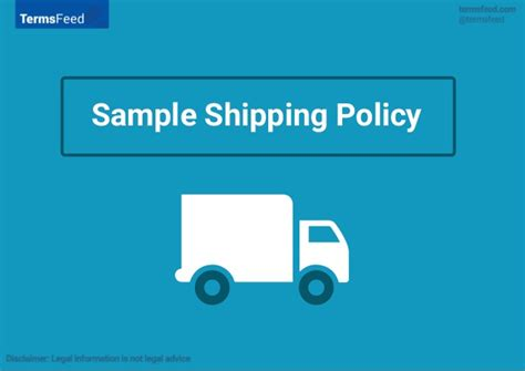 shipping policy template sle shipping policy template