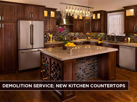 new countertops demolition service new kitchen countertops