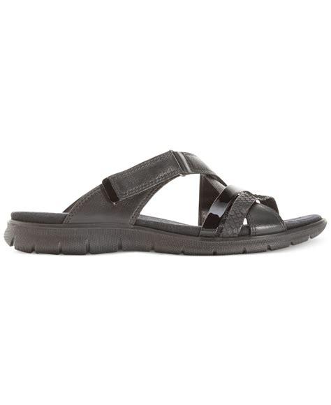 slide sandals womens ecco s babett slide sandals in black lyst