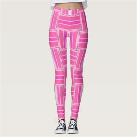 patterned yoga leggings canada funky hot pink stripe pattern leggings zazzle