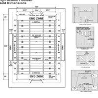 high school football field diagram goal line athletics
