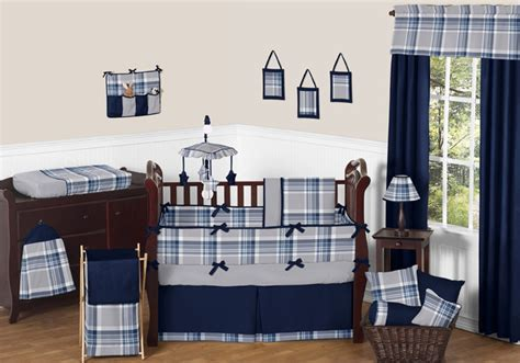 blue and grey crib bedding plaid navy blue and gray crib bedding collection