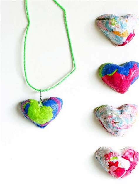 How To Make Necklace With Paper - how to make tissue paper pendant with tutorial