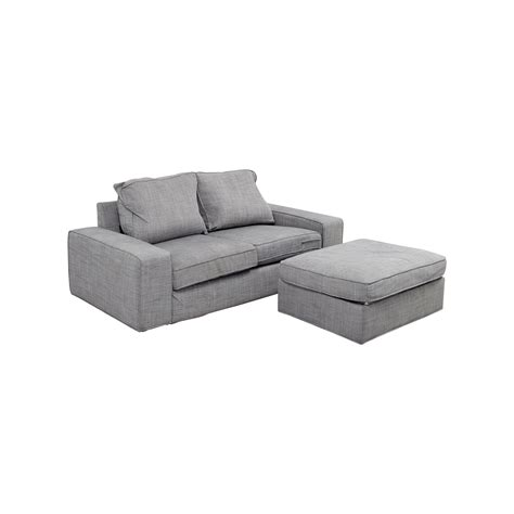 kivik ikea sofa 64 off ikea ikea kivik gray sofa and ottoman sofas