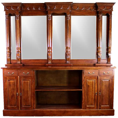 8 mahogany back bar furniture antique replica