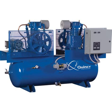 free shipping quincy duplex air compressor 7 5 hp 230 volt 1 phase 120 gallon horizontal