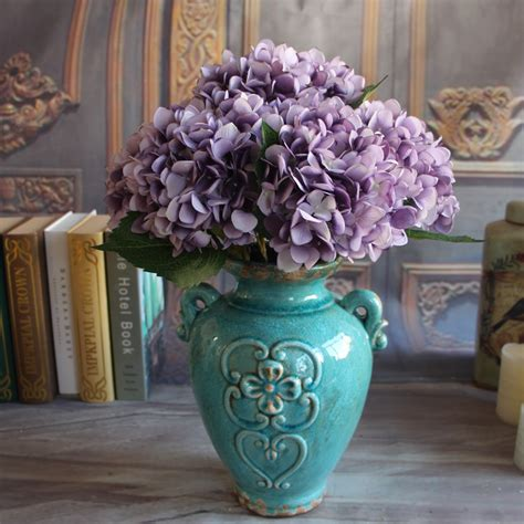 Hydrangea Decor by Floral 1 Bouquet Artificial Silk Peony Flower Hydrangea Decor Ebay