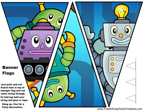 free printable robot party decorations diy birthday blog free robot birthday party printables