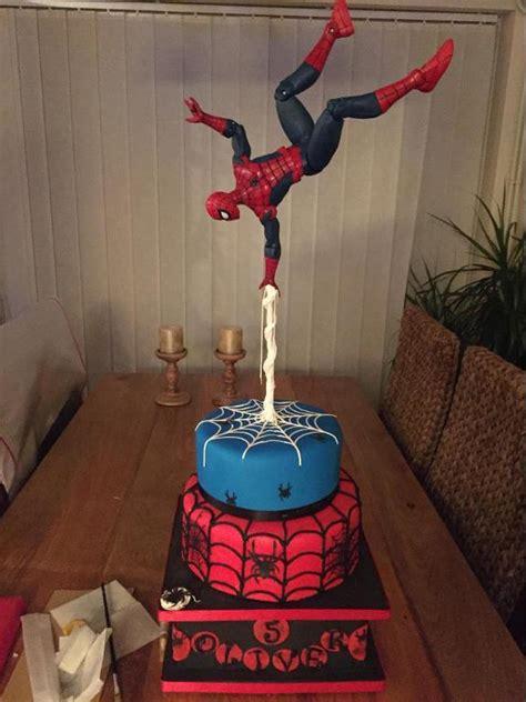 spiderman gravity defying cake  oliviamar