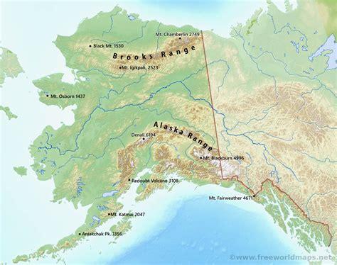 physical map of alaska physical map of alaska