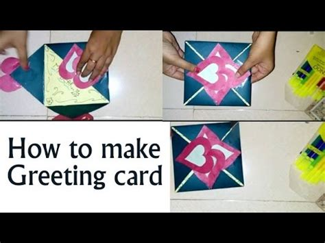 how to make a greeting card for new year how to make a simple greeting card