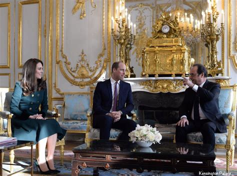 kensington palace william and kate kate keeps her catherine walker coat on for paris arrival