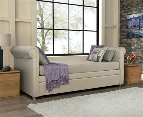 Daybed Sofa With Trundle by Daybed With Trundle Hide A Bed Sofa Tufted Linen