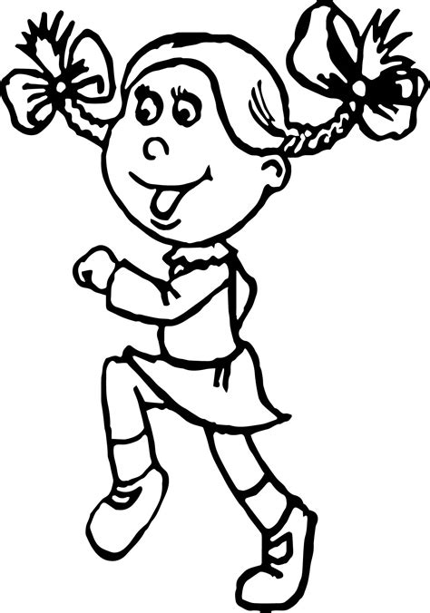 coloring pages for art students activity jogging student girl coloring page wecoloringpage