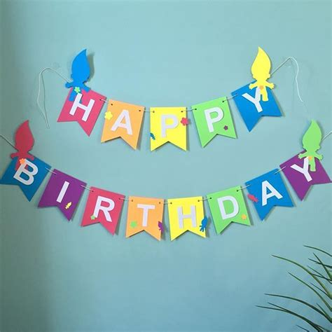 How To Make A Happy Birthday Banner Of Paper - 25 best ideas about happy birthday banners on
