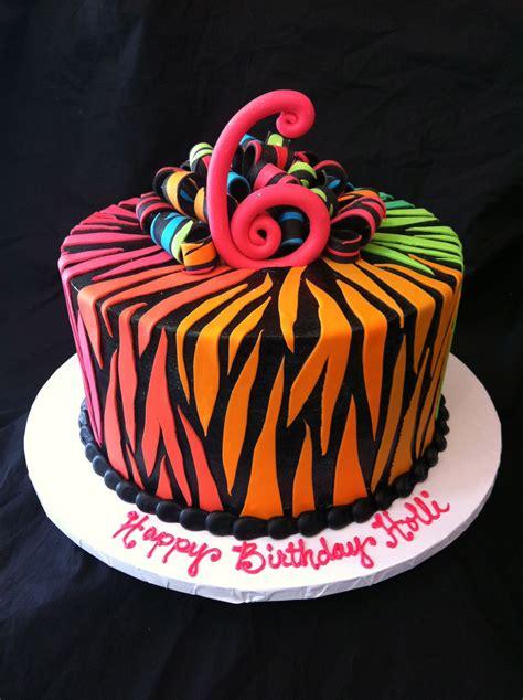 multi colored cake multi colored zebra print cake cakes cakes more