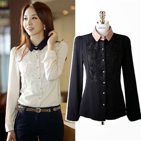 Collar Dress Dress Kantor model baju kantor korea
