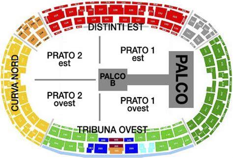 costo biglietti vasco 2014 one direction concerto torino piantina dello stadio e