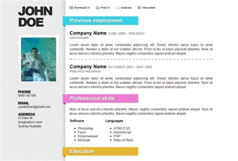 Resume Help Singapore Laianderson Design Singapore Web And Graphic Designer Html Resume Templates To Help You Land