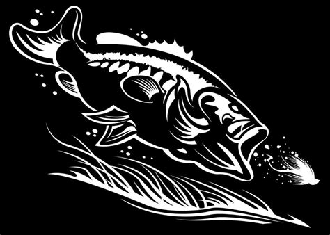 bass boat decals stickers largemouth bass sticker black bass lure fishing decal boat