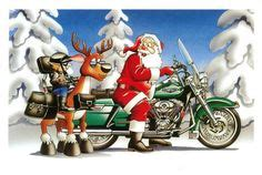 Motorrad Führerschein Nachholen by Harley Davidson Weihnachtskarten And Rentiere On