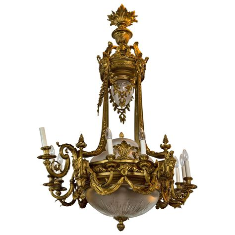 French Bronze Chandelier For Sale At 1stdibs Chandelier Bronze
