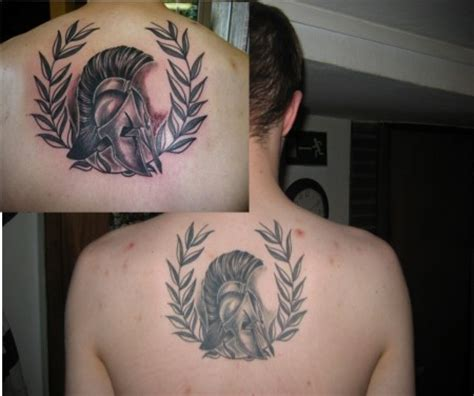 apollon spartanischer helm tattoos von tattoo bewertung de