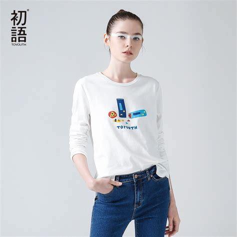 O Neck Slim O Neck Slim Kaos Polos Wanita toyouth 2017 new arrival t shirt o neck sleeve cotton slim basic tees