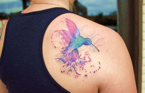 watercolor tattoo artists california watercolor hummingbird monte livingston living gallery