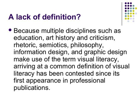 design literacy meaning visual literacy a primer